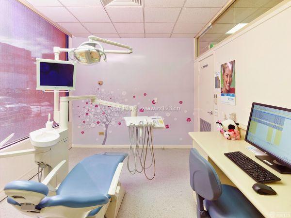 牙科美容店壁紙背景墻裝修效果圖