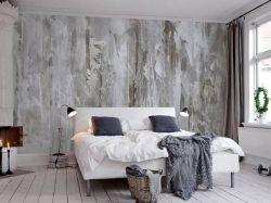 2018北歐風格臥室床頭背景墻裝潢設計裝修圖片