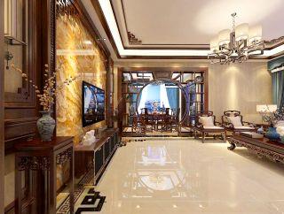 淄博碧桂园中式风格300平米装修效果图案例