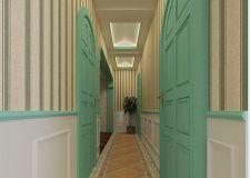 简约地中海风格家装走廊过道吊顶效果图