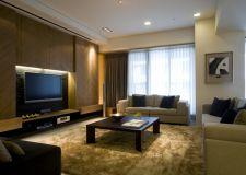 简单现代风格客厅电视背景墙装修图片