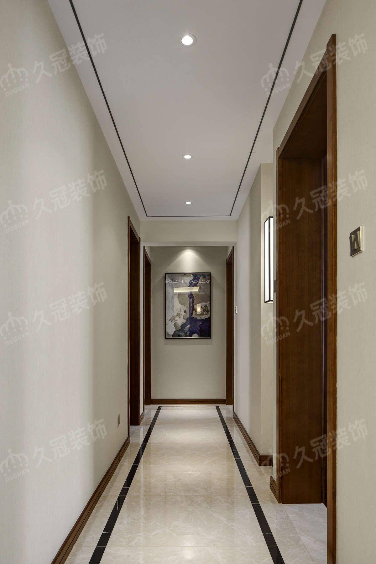 家装效果图 中式 2018简约新中式过道走廊装修效果图 提供者:   ←图片