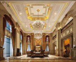 歐式奢華別墅餐廳窗簾裝修效果圖