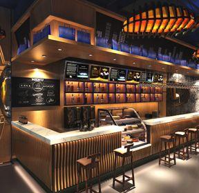 2020酒吧咖啡厅吧台装修效果图-每日推荐