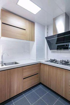 北欧简约厨房装修效果图 吊顶灯具装修效果图