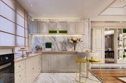 輕奢風格廚房L型整體櫥柜效果圖