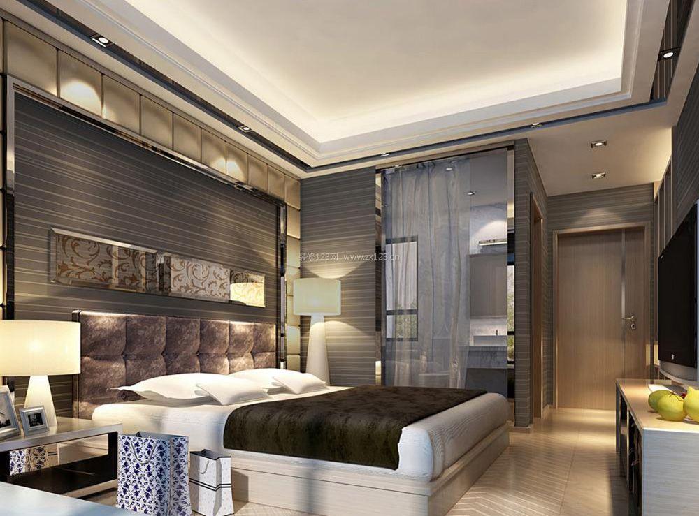 欧式简约卧室带卫生间装修效果图