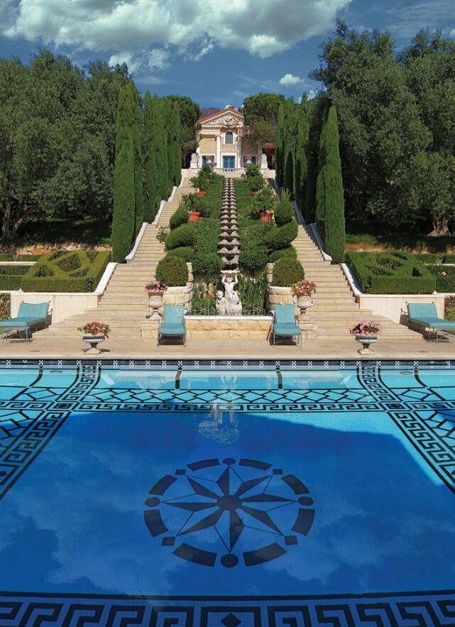 别墅景观水池创意设计图
