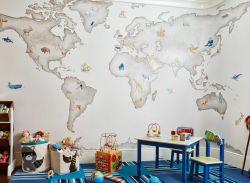兒童玩具房壁紙墻面設計圖片