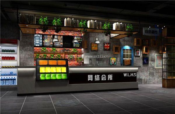 網咖吧臺設計裝修效果圖片