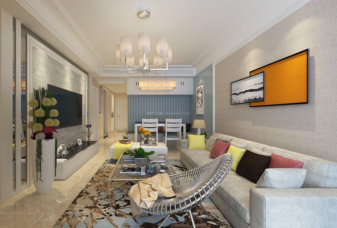 六十平米房子客厅休闲椅装修设计效果图