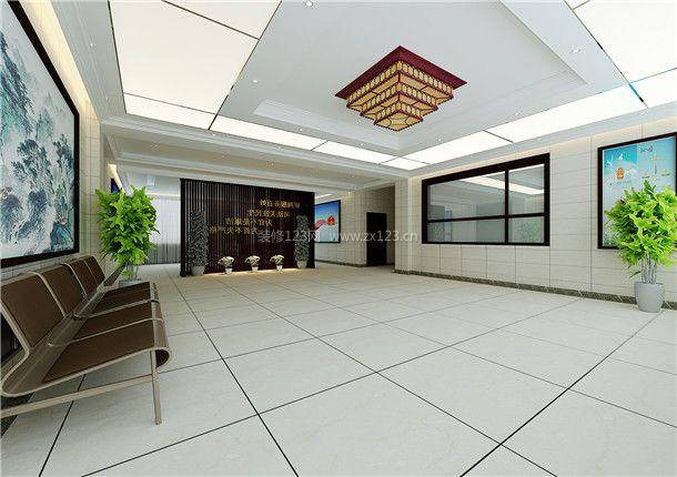 银川永宁法院 沉稳风格200平米设计方案 2018法院办公室装修效果图