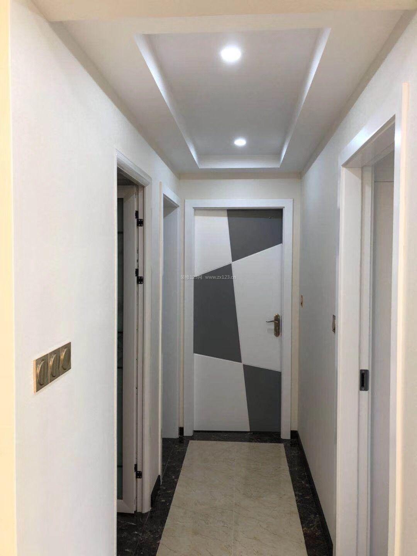 2018现代简欧风格过道走廊吊顶装修效果图图片