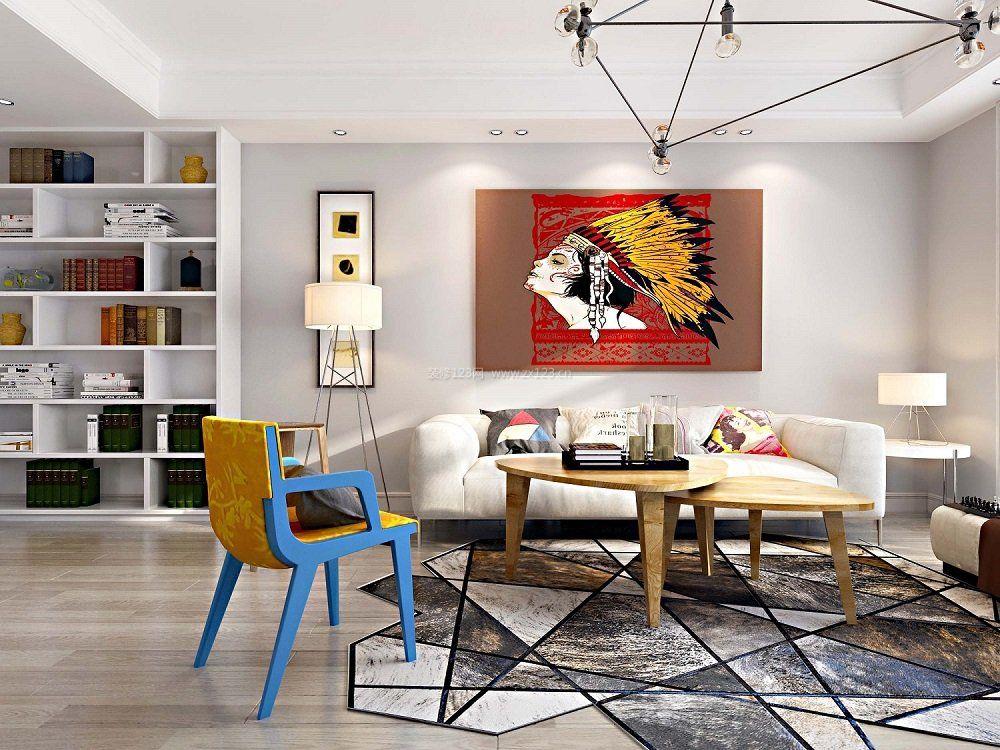 2018六十平米房子客厅地毯装修设计效果图片