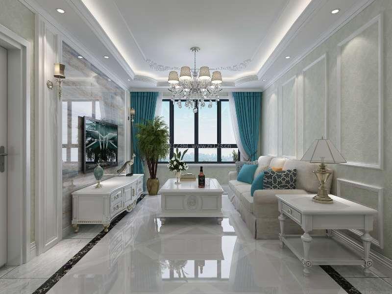 六十平米房子地面瓷砖装修设计效果图