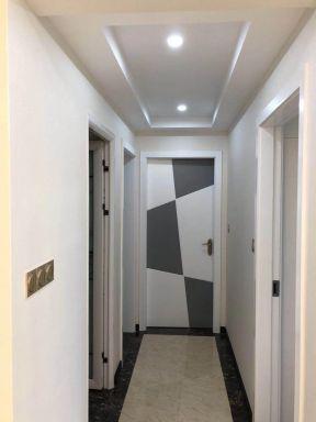 现代简欧风格装修效果图 2018过道走廊吊顶效果图图片