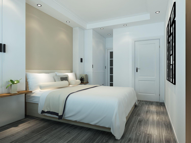 2018简约现代卧室木地板设计装修效果图图片