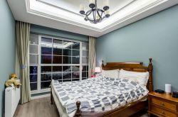 現代美式臥室窗戶裝修效果圖