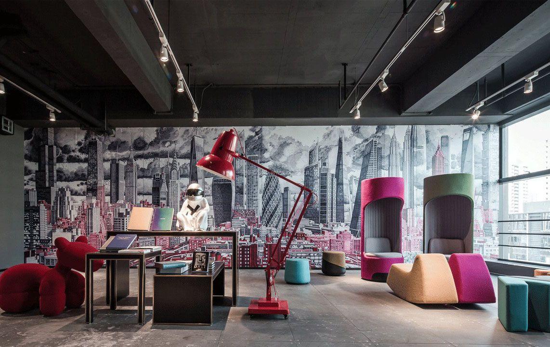 大型办公室创意背景墙设计效果图片