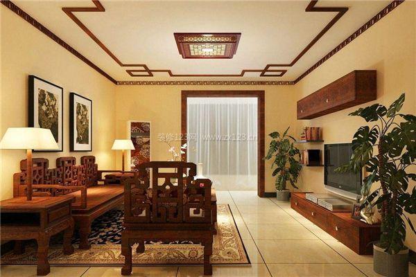 新中式皇室黄装修风格效果图