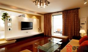 2018家庭現代客廳裝修 簡約電視墻大全