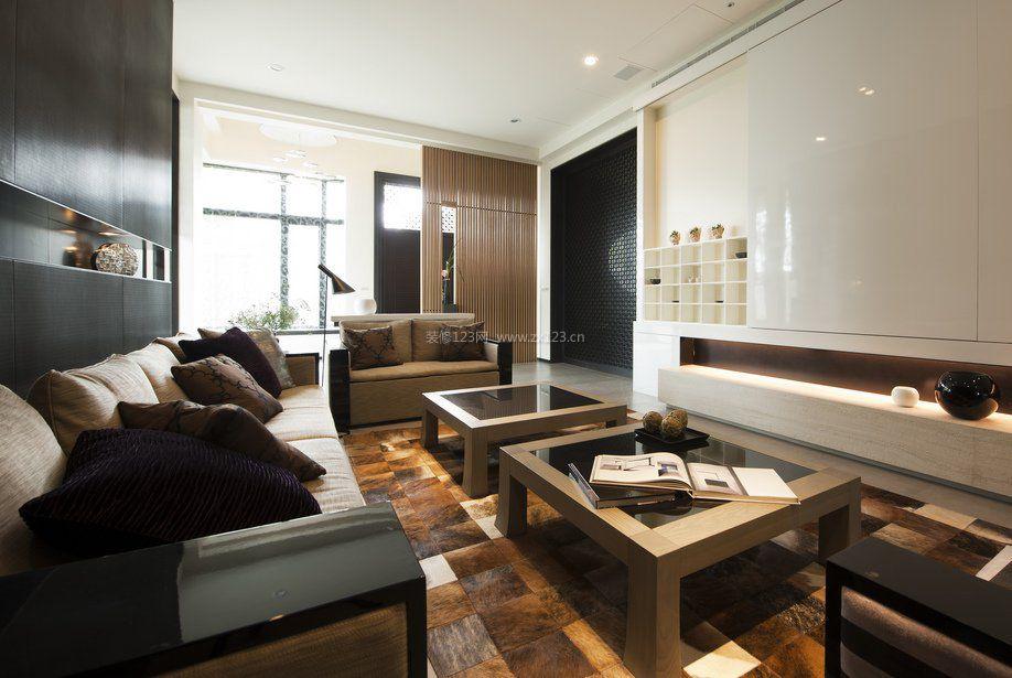 家庭客厅茶几简单装修设计图