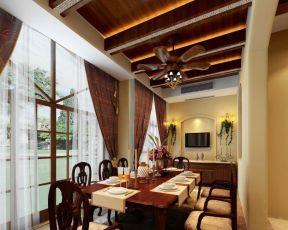 歐式別墅餐廳裝修效果圖 餐廳窗戶效果圖