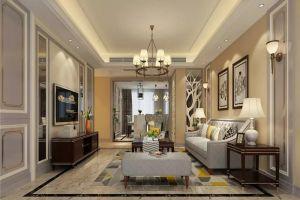 首创隽府203㎡四居室美式风格装修案例