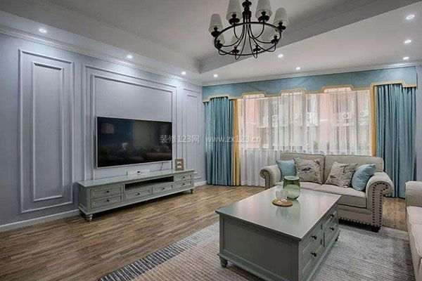家装电视背景墙 不同材质创造不同效果