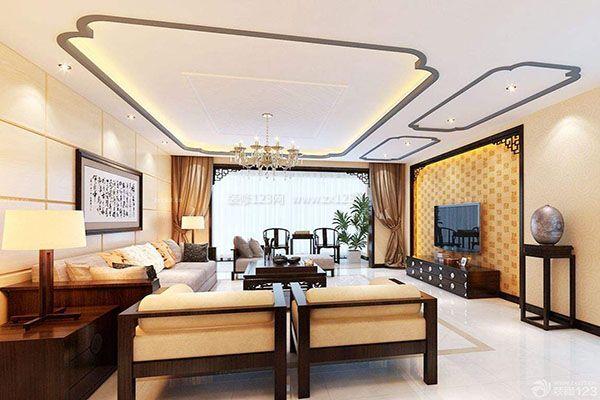 【蜀源装饰】新中式客厅如何吊顶 新中式客厅吊顶要点