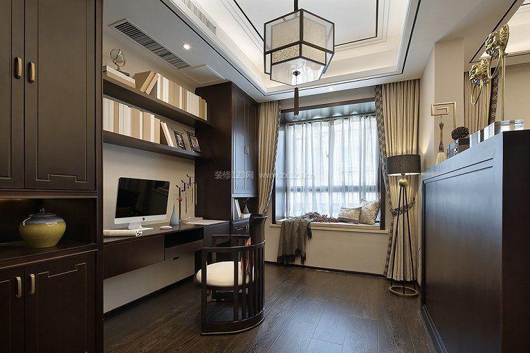 家装效果图 中式 新中式古典书房书桌书柜一体设计装修图片 提供者图片