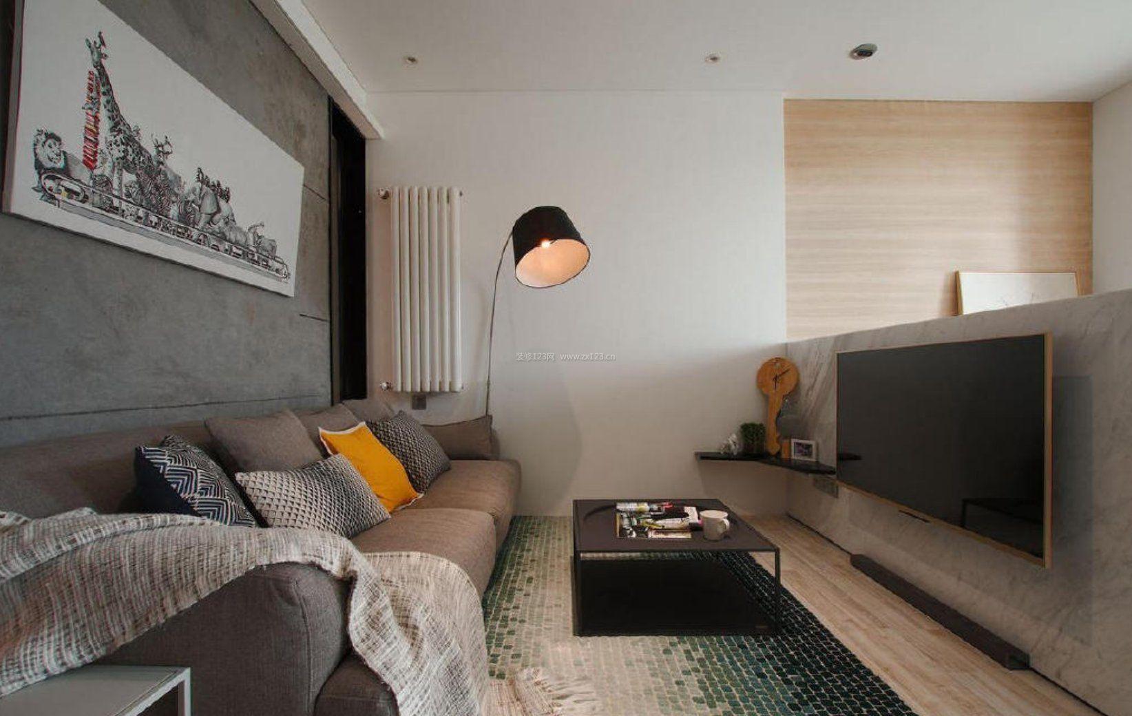 40平米一房一厅半墙电视墙设计装修图