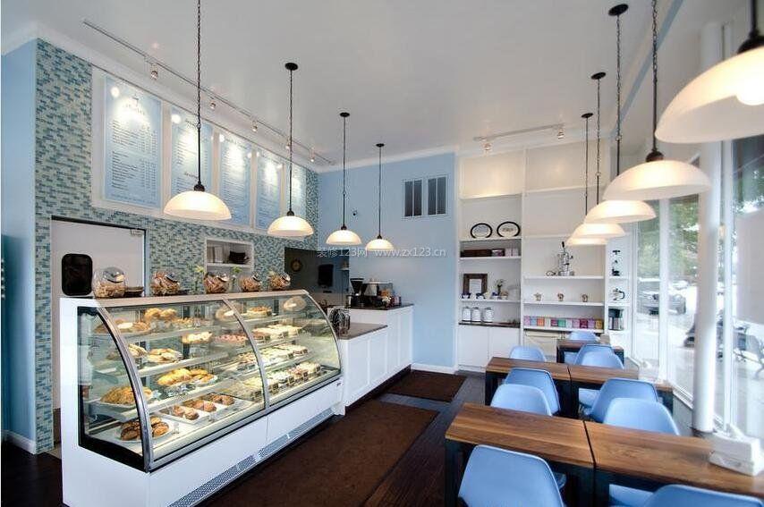 蛋糕店小清新装修设计图片
