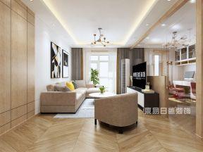 2018淡雅現代簡約客廳效果圖 現代簡約客廳顏色搭配效果圖