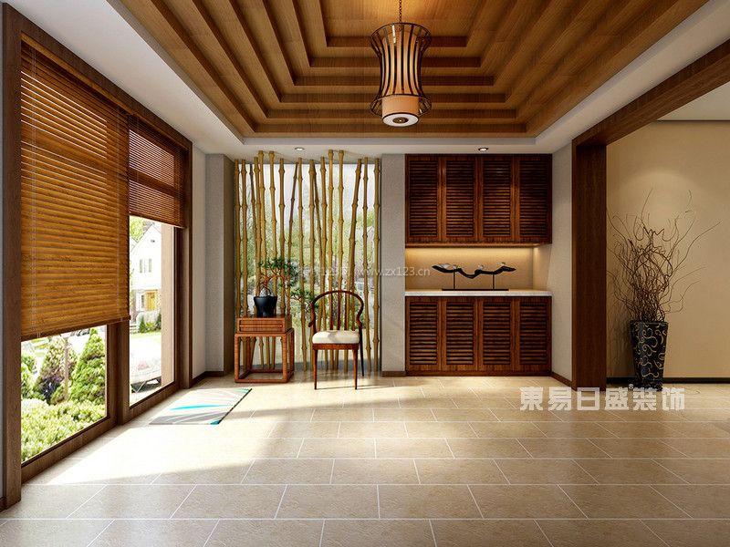 成都保利两河森林叠拼别墅装修东南亚风格设计效果图|东易日盛