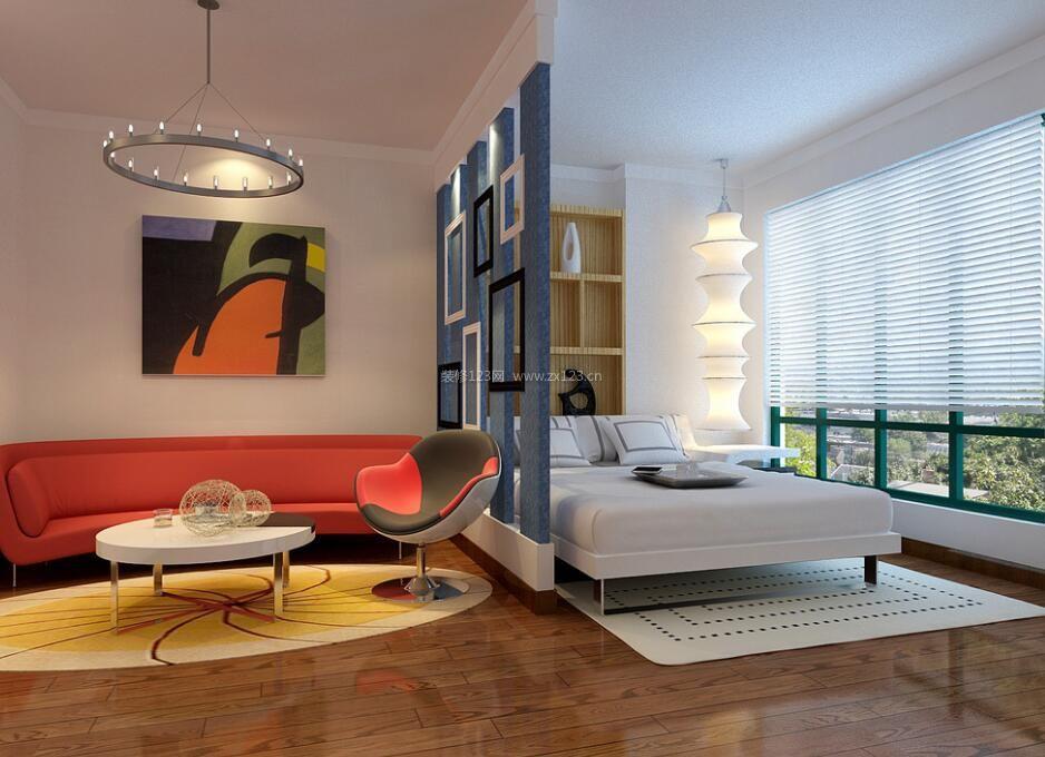 小户型家装客厅卧室镂空隔断设计图