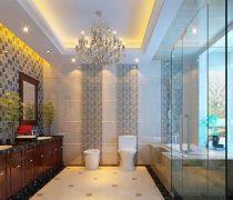 新中式卫生间马桶安装设计图片