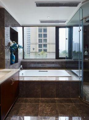 新中式卫生间砖砌浴缸设计图赏析图片