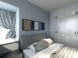2018現代簡約風格臥室白色衣柜門裝修圖片