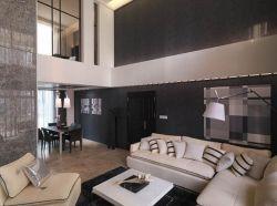 中空別墅黑白簡約客廳裝修圖片