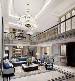 2018獨棟別墅整體布局平面設計圖 2018別墅客廳沙發茶幾效果圖片
