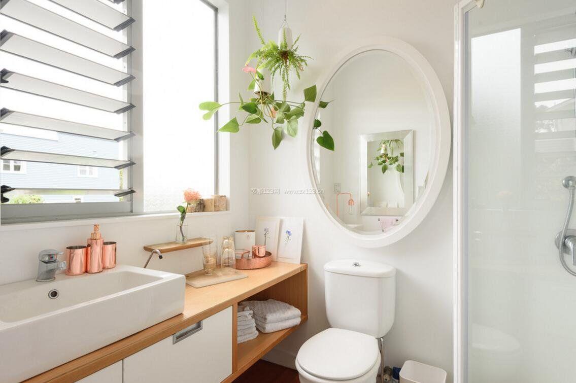 2018家庭洗手间百叶窗设计图大全欣赏