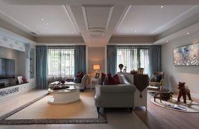 歐式客廳地毯效果圖 大戶型客廳裝飾效果圖裝修