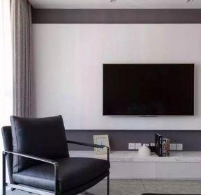 簡約現代客廳電視墻圖片-每日推薦