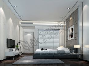 2018現代主臥室裝潢設計圖 臥室背景墻設計