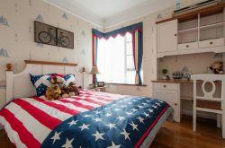 美式兒童房樣板間壁紙裝修效果圖圖片