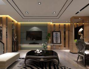 港式風格客廳 懸空電視柜