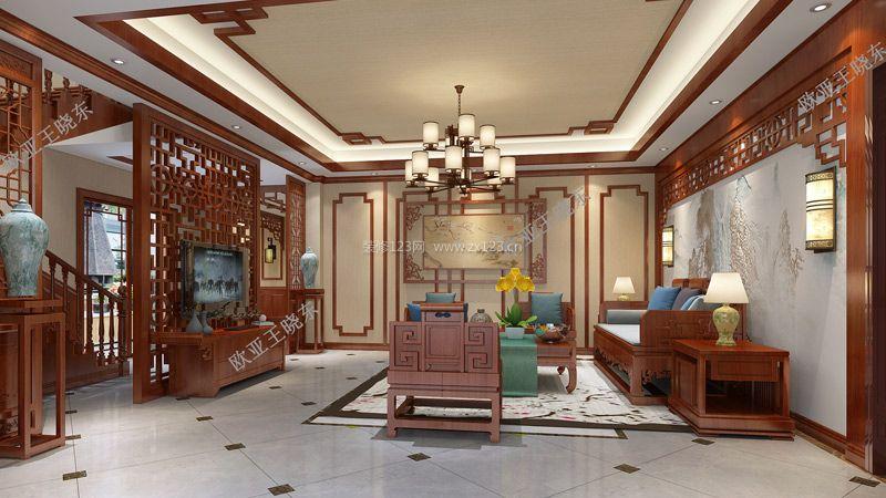 德阳雅兴花园中式风格260平米装修效果图案例