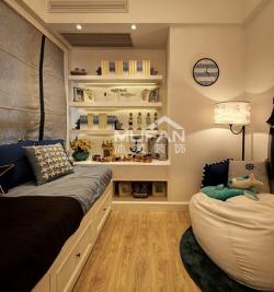 地中海風格兒童房榻榻米床裝修設計圖片