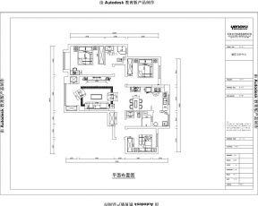 主臥室裝修平面圖 房屋小戶型平面圖